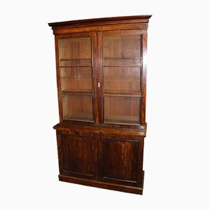 Mahogany Chiffonier Bookcase with Glazed Display Top, 1920s