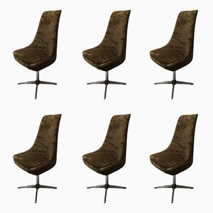 Italian Swivel Chairs, 1970s, Set of 6
