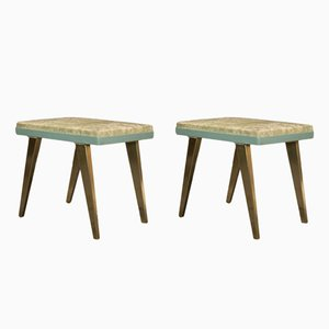 Stools in Gilt Brass, 1950s, Set of 2