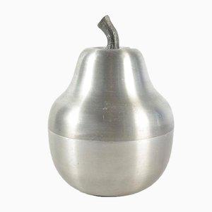 Brushed Aluminum Pear-Shaped Ice Bucket, 1970s