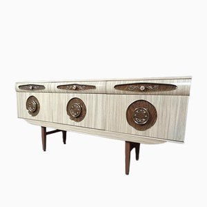 Italian Sideboard with Brass Handles, 1950s