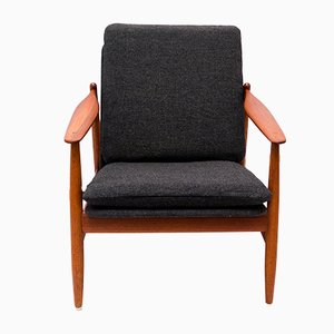 Modell 340 Teak Armchair by Poul M. Volther for Frem Røjle, 1960s
