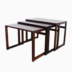Vintage Nesting Tables in Rosewood