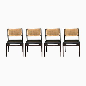 Mid-Century Rattan Dining Chairs by P.J. Muntendam, Set of 4