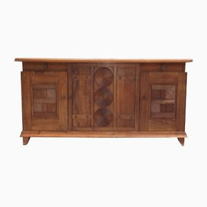 Art Deco Sideboard in Walnut by Charles Dudouyt, 1930s