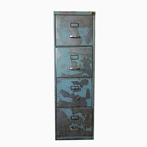 Industrial Metal & Brushed Steel Cabinet from VEB Gothaer Metallwarenfabrik, 1970s