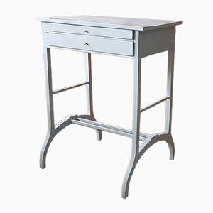 Mesa consola polaca vintage en gris claro, años 30
