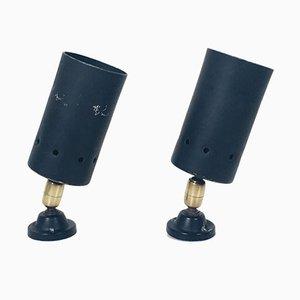 Lámparas de pared italianas, años 50. Juego de 2