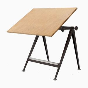 Vintage Industrial Drafting Table by Wim Rietveld & Friso Kramer for Ahrend de Cirkel