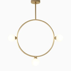 Circle Pendant with 3 Glass Spheres by Atelier Areti