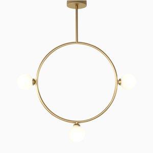 Lampe à Suspension Cercle avec 3 Sphères en Verre par Atelier Areti