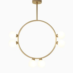 Circle Pendant with 6 Glass Spheres by Atelier Areti