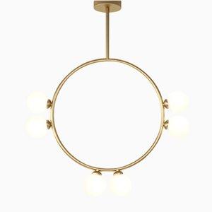 Lampada a sospensione Circle con 6 sfere in vetro di Atelier Areti