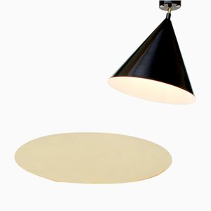 Cone Ceiling Lamp & Polished Brass Plate by Atelier Areti