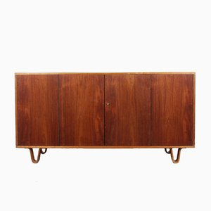 Two-Tone Teak and Birch Plywood Cabinet by Cees Braakman for Pastoe, 1950s