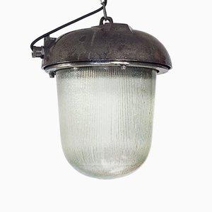Lampada a sospensione industriale di Polam Wilkasy, Polonia, anni '70