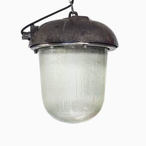 Large Polish Industrial Bunker Pendant Lamp from Polam Wilkasy, 1970s