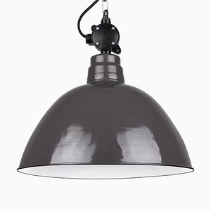 Lampada industriale da fabbrica di LBL Leuchtenbau Leipzig, Germania, anni '60