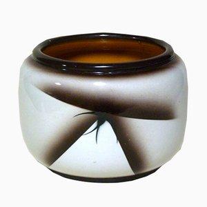 Vintage Airbrushed Pordenone Keramik Vase von Angelo Simonetto für Galvani