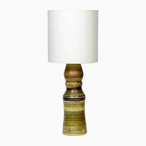 Lámpara de mesa francesa alta de cerámica, años 60