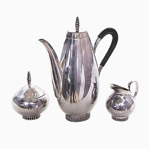 Art Deco Sterling Silver Mocha Set from Grimminger