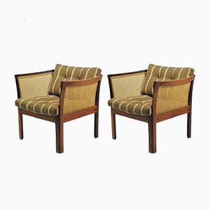 Plexus Easy Chairs in Rosewood by Illum Vikkelso for CFC Silkeborg, 1970s, Set of 2