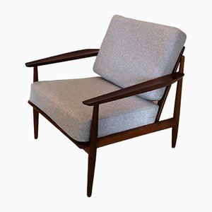 Mid-Century Afromosia Lounge Chair by Arne Vodder for Gløstrup, 1960s