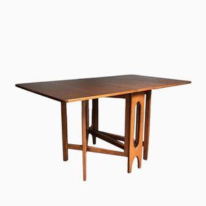 Vintage Extending Drop Leaf Teak Dining Table
