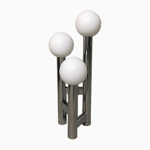 Mid-Century Italian Chrome Bubble Floor Lamp, 1970s