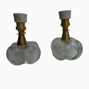 Italienische Tischlampen von Seguso, 1940er, 2er Set