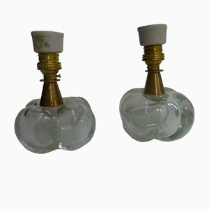 Lámparas de mesa italianas de Seguso, años 40. Juego de 2