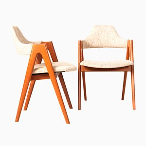 Teak Compass Chairs by Kai Kristiansen for SVA Møbler, 1960s, Set of 2