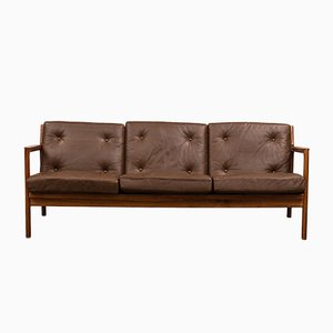 Mid-Century Swedish Rosewood 3-Seater Sofa by Karl Erik Ekselius for JOC Vetlanda, 1960s