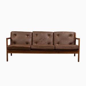 Schwedisches Mid-Century Palisander 3-Sitzer Sofa von Karl Erik Ekselius für JOC Vetlanda, 1960er
