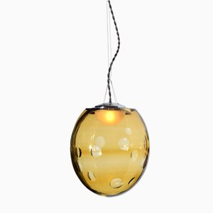Kaline Pendant Lamp in Amber by Atelier Areti