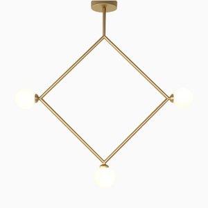 Rhombus Hängelampe mit 3 Glaskugeln von Atelier Areti