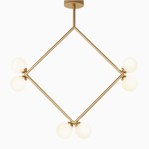 Rhombus Pendant with 6 Glass Spheres by Atelier Areti