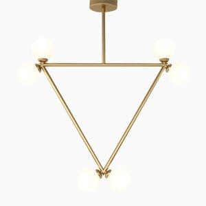 Lámpara colgante Triangle con 6 esferas de vidrio de Atelier Areti