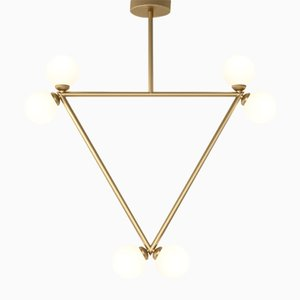 Triangle 6 Glass Spheres Pendant by Atelier Areti