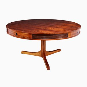 Bridgeford Rosewood Drum Table by Robert Heritage for Archie Shine, 1950s