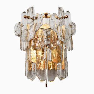 Lampada da parete in vetro smerigliato di J.T. Kalmar per Franken KG, anni '60