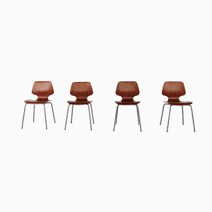 Vintage Stacking Chairs by Georges Frydman for EFA, Set of 4