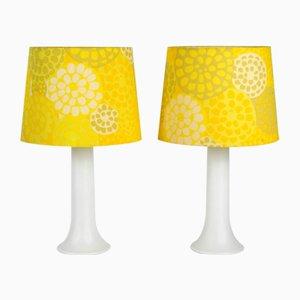 Lámparas de mesa grandes de vidrio de Östen Kristiansson & Uno Kristiansson para Luxus Vittsjö, años 60. Juego de 2