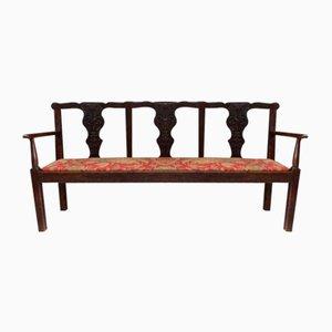 Seduta in stile Chippendale antica in quercia