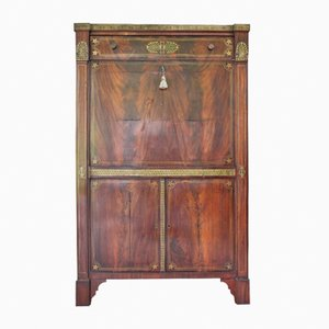 Antique Inlaid Mahogany Secretaire