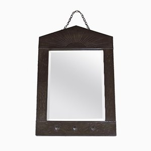 Vintage Arts & Crafts Mirror with Metal Frame