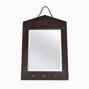 Vintage Arts & Crafts Spiegel mit Metallrahmen