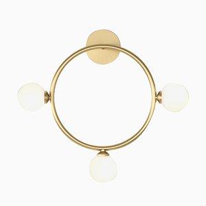 Lampada da parete Circle con 3 sfere in vetro di Atelier Areti