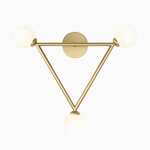 Triangle 3 Glass Spheres Wall Light by Atelier Areti