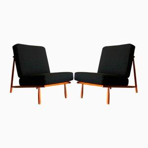 Domus 1 Sessel in Schwarz von Alf Svensson für Dux, 1950er, 2er Set
